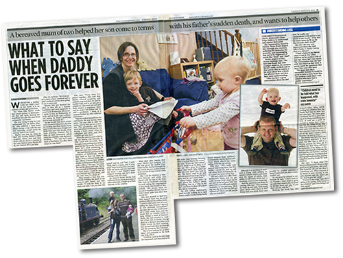 newspaper article: What to say when daddy goes forever
