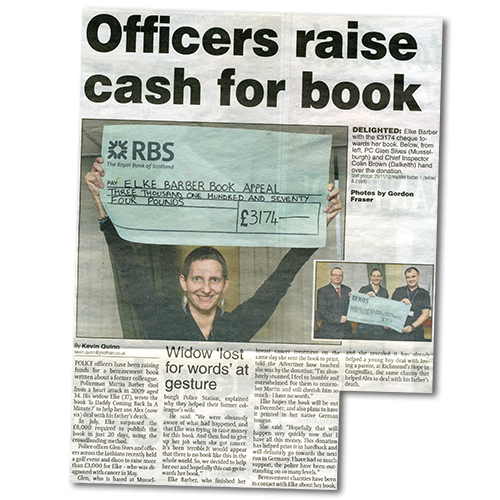 Midlothian Advertiser article: Officers raise cash for book