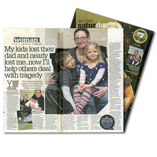 Daily Record Saturday magazine article: My kids lost their dad and nearly lost me...