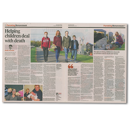 article in The Irish Times: Helping children deal with death