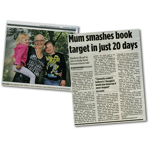 article: Mum smashes book target in just 20 days