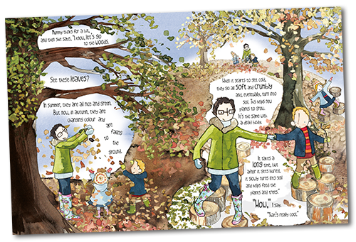 double page spread from book What happened to daddy's body?