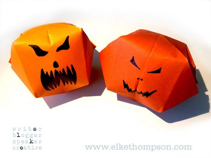 Halloween origami pumpkin by Elke Thompson
