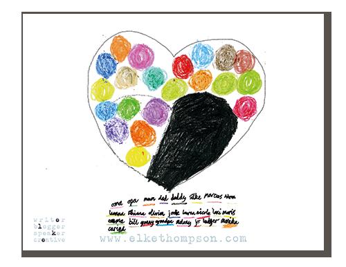 Ein farbenfrohes Herz