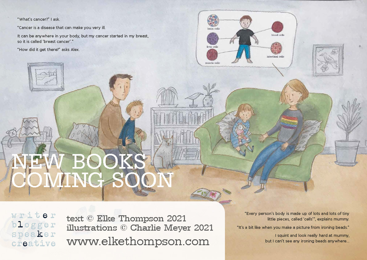Elke Thompson new cancer book sample spread